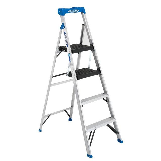 folding aluminum step ladder telescopic ladder Compact Folding Step Aluminum Alloy Telescopic Ladder