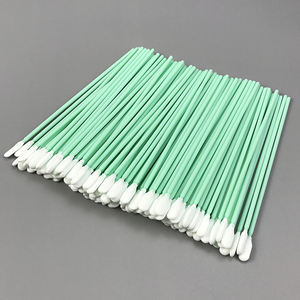 Industrial Use Cleaning Swabs For Printer Head, Lint Free Double Layer Electronic Solvent Knitted Polyester Clean Room Swab/