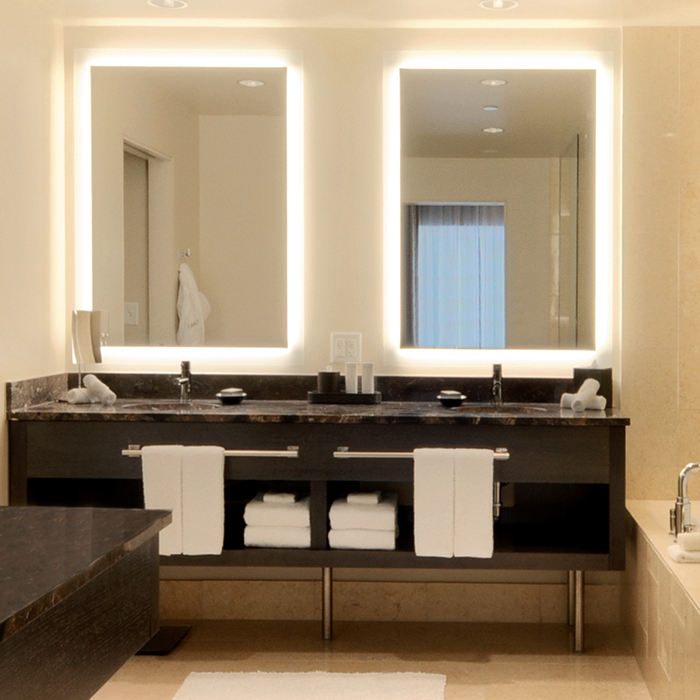Factory price hotel bathroom salon backlit vanity smart mirror