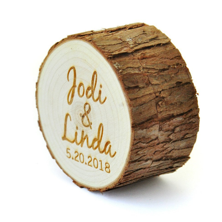 Custom Wooden Engagement Wedding Jewelry Ring Box