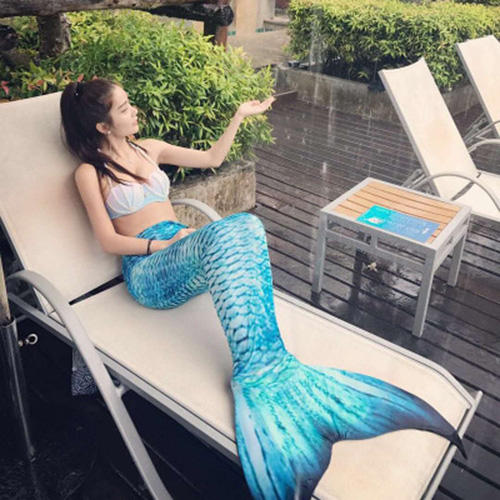 2018 new star with the same mermaid costume adult female tail swimsuit sexy thin princess full set PGWC6422