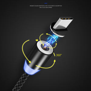Mobile Phone Fast Charging 3 In 1 Usb Magnetic Data Cable