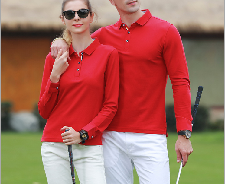 Long sleeve quick dry cotton polyester fitness tennis golf wear event polos t shirts