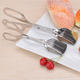 Amazon Wholesale Stainless steel BBQ scissors clip food service tong Cake Tongs for Children