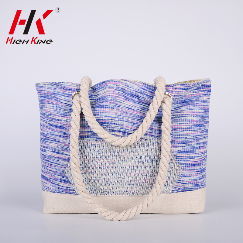 Online sales new coming 100% cotton holiday beach bag
