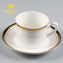 Blank gold trim tea cup and saucer+180ml porcelain cup and saucer for tea set
