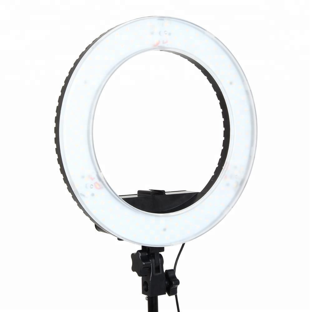 "6"" 8"" 9""10"" 12""14"" 18"" dimmable 3200K-5500K 240PCS LED Ring Digital Photographic Studio light makeup round light"