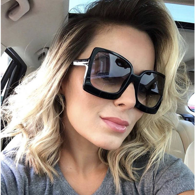 HBK Ladies Square Sunglasses 2019 New Style Sun Glasses Brand Design Women Big Frame Eyewear For Outdoor Shades Goggles Oculos