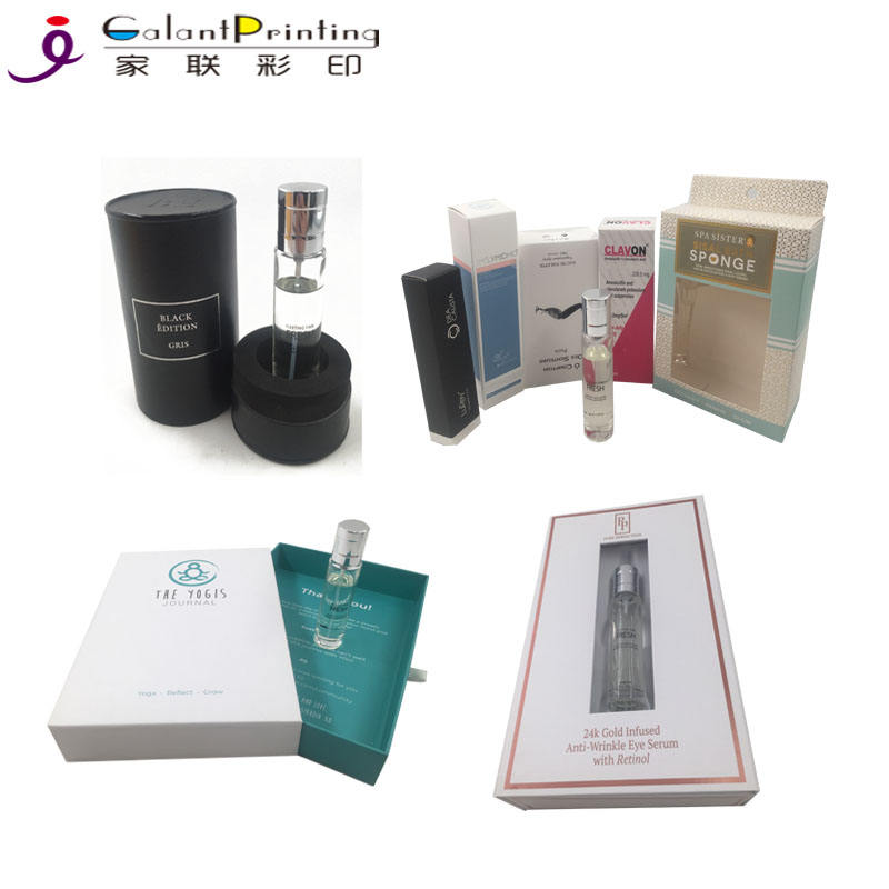 Carton Packing Box Custom Printed LOGO Plain High Quality Small Soap/Perfume Bottle Product Packaging \& Printing