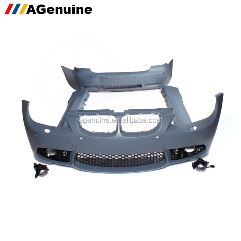 PP plastic M3 conversion body kit front bumper rear bumper fenders side skirts for BMW 3 series E92 E93