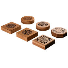 engraved wooden incense burner round or square gift box