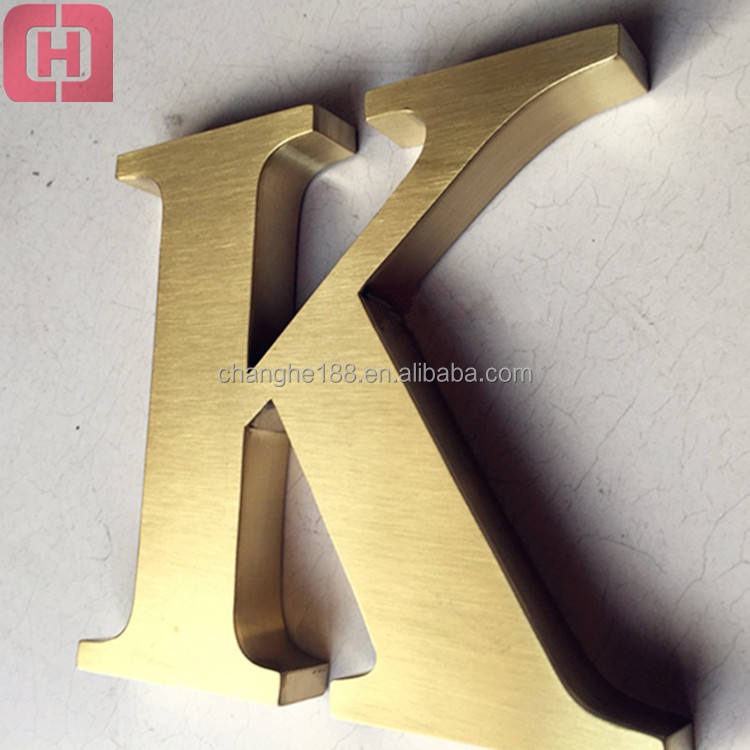 Rustic metal wall letters gold 3d signs small metal alphabet letters logo