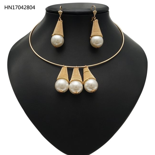 Hawaiian Necklace Wholesale 18K Gold Jewelry Sets Pearl Rani Haar Designs