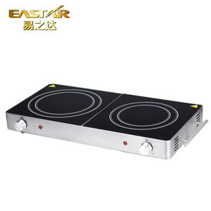 Electrical double burner cooking plate ceramic stove
