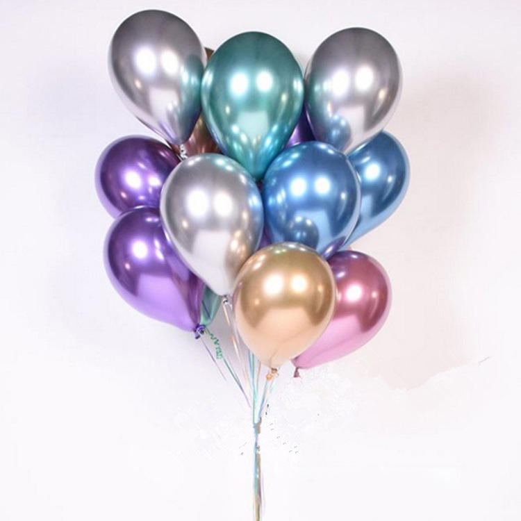 Hot selling 12inch chrome latex balloons pearl metallic latex Balloon For Party Decorations