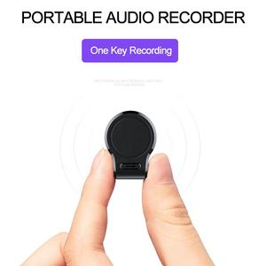 Aomago Strong Magnetic Absorption Dictaphone Long Time Standby Recording Mini Spy Voice Recorder