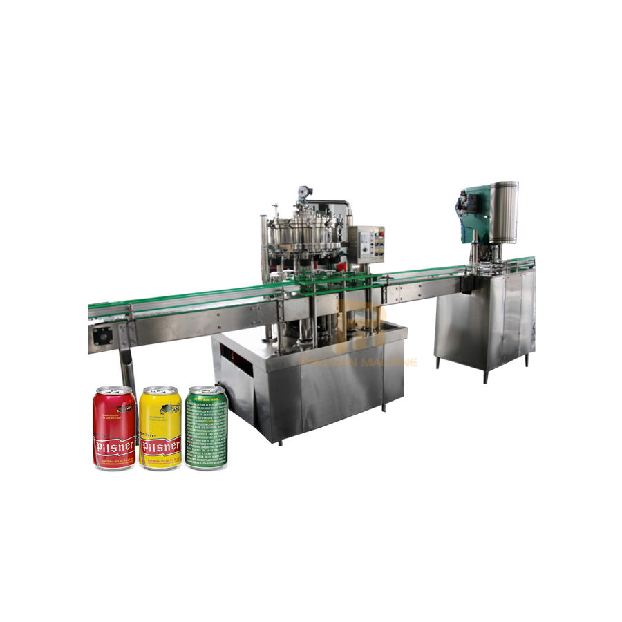 Practical Aluminium&Pet Canning Washing Filling and Sealing Production Line