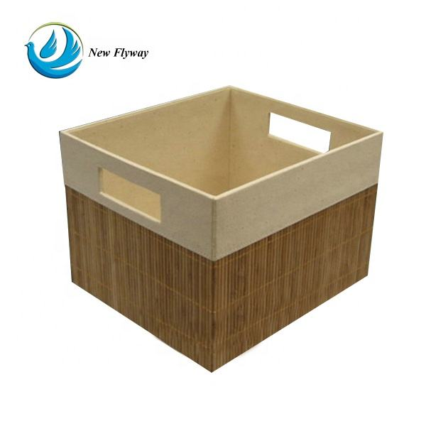 contemporary top sell bamboo product nonwoven storage cube foldable bamboo storage box