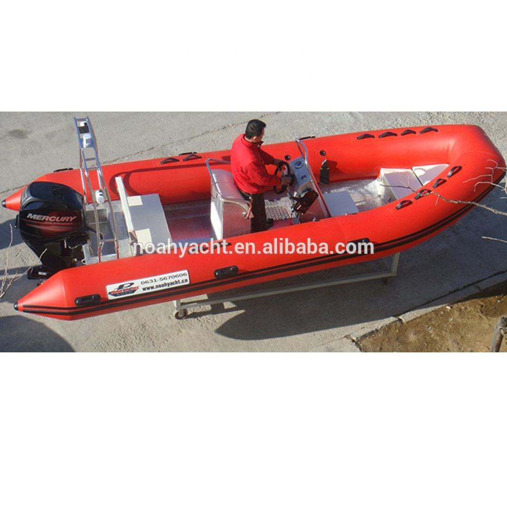 Made in China Big17ft PVC or Hypalon center console aluminum rigid boats for sale