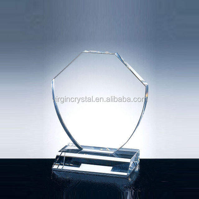 Blank Glass Shield Awards Promotional Souvenir
