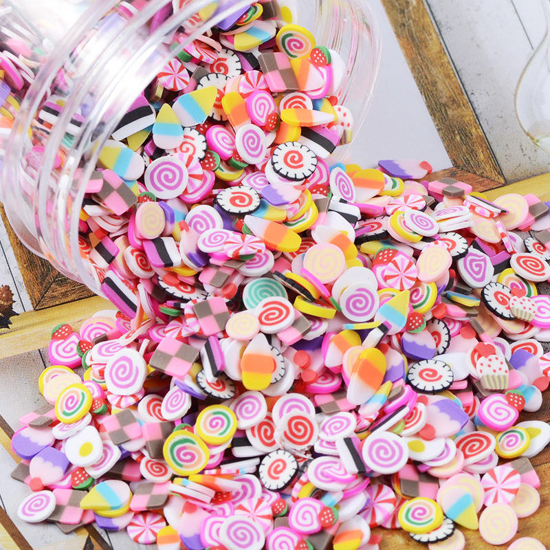 wholesale DIY Soft Pottery Fruit lemon Slices animal cute handmade Cream Cell Shell slime accessories charms