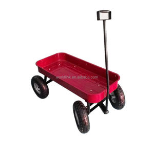 Portable Rubbish Collecting Plastic Garden Trolly