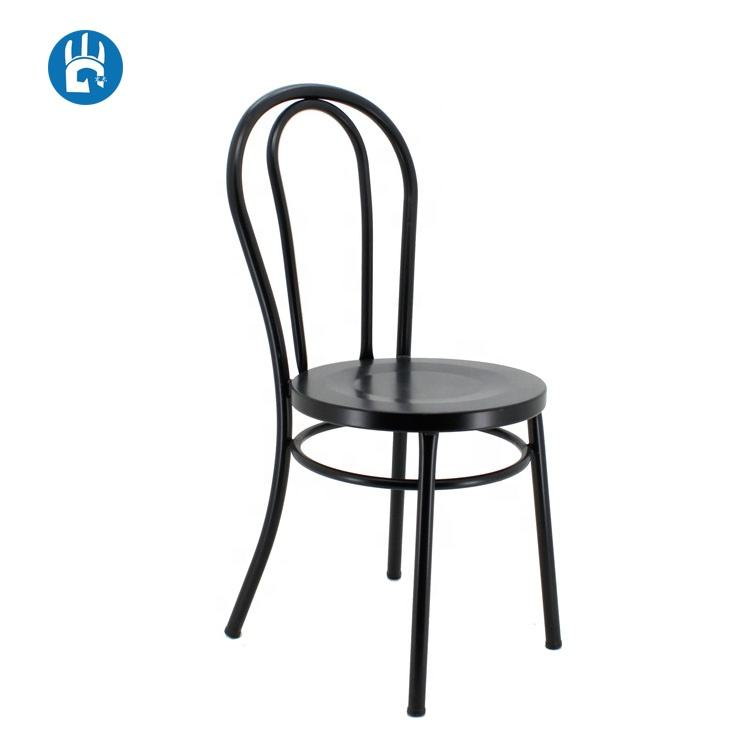 Outdoor Design impilabile vintage casting da pranzo cafe thonet black metal sedia laterale