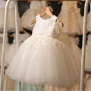 Hot Baby Girls White Embroidered TUTU Dress Kids Wedding Puffy Party Dresses Girls