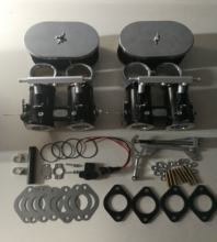 FAJS 48DCOE throttle bodies and TPS and air horn and linkage and base gasket