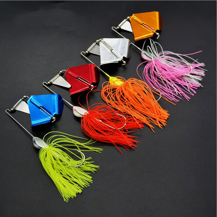 21g lead head jig buzzbait lure Buzz bait with rubber skirt and lead blades for fishing