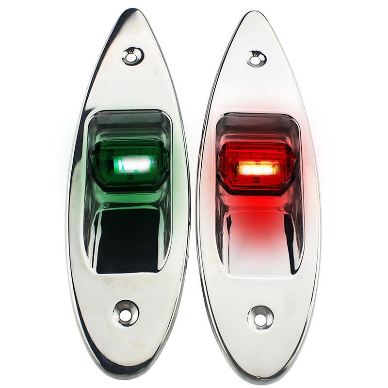 New Waterproof 12V Marine Boat LED Side bow Tear Drop Navigation lights