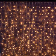 Hot sell outdoor christmas curtain led string lights