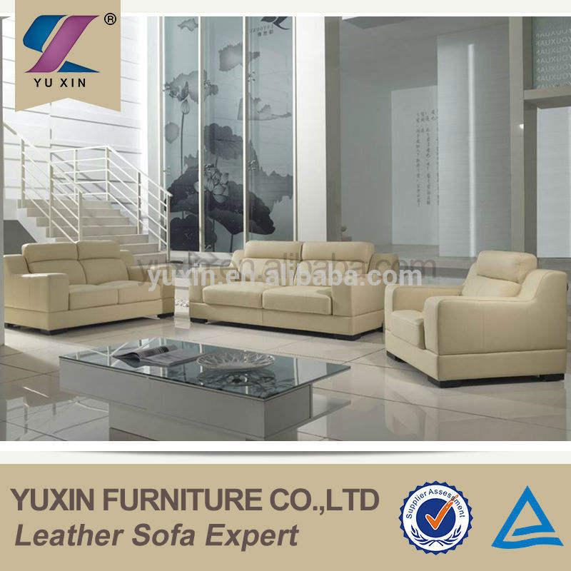 Sala de estar mobiliario moderno/moderno sofá de cuero