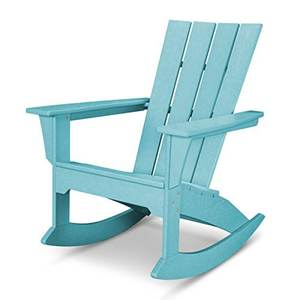 faux wood beach adirondack chair outdoor garden plastic