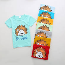 Summer Kids short Sleeve T shirt Baby Boys Girls Cotton Tops Cartoon Printing kid T Shirt 2-7Y Children Clothing