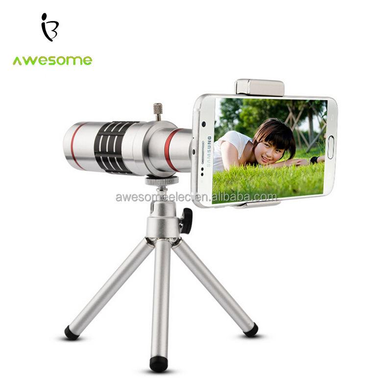 (Mới) Bạc Nhôm vật liệu Hợp Kim Ống Kính Tele, ống kính telephoto cho zoom loại, điện thoại di động lens