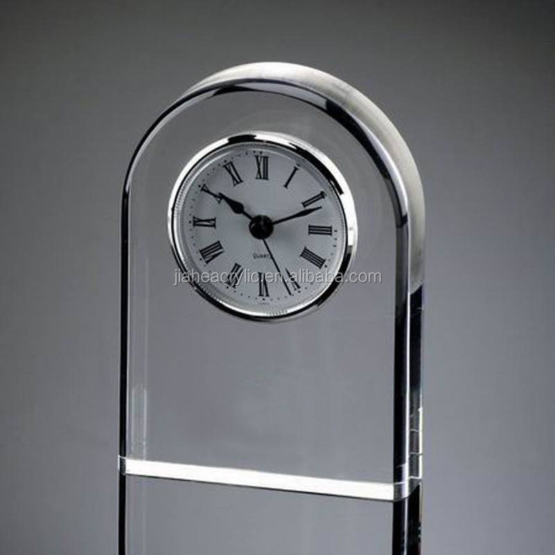 Logo printed acrylic stand up clock for business/promotion gifts JA-ZS-002