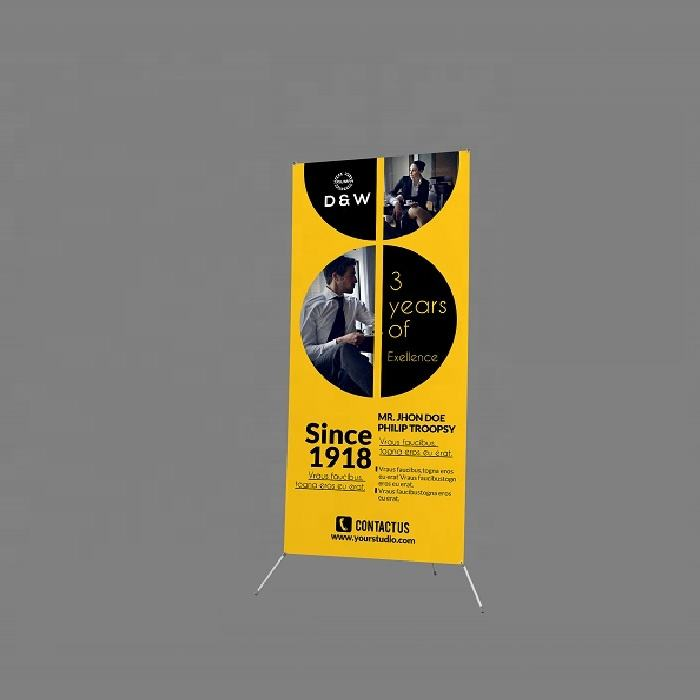Reclame Custom Model X Display Banner Stand Plastic Pole