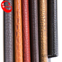 Crocodile Embossed Pattern Synthetic Leather Upholstery Fabric For Shoes/Bags