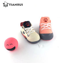 Eco-Friendly Cute Shoes Shape Pet Squeak Dog Latex Chew Toy
