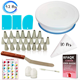 China Cheap Baking Pastry Tools Plastic Turntable Cake Tools Set Rotating Cake Decorating Tips Set Piping Icing Tip Supplies Kit