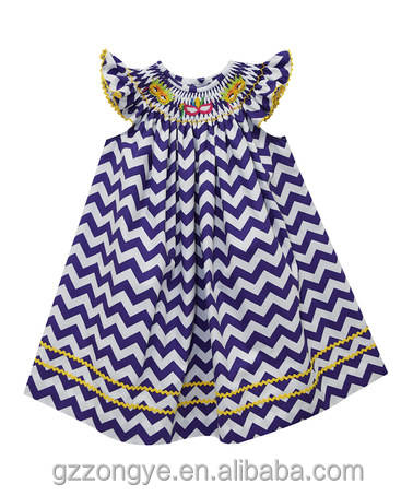 Navy chevron mardi gras uskup dress-bayi, balita & girls