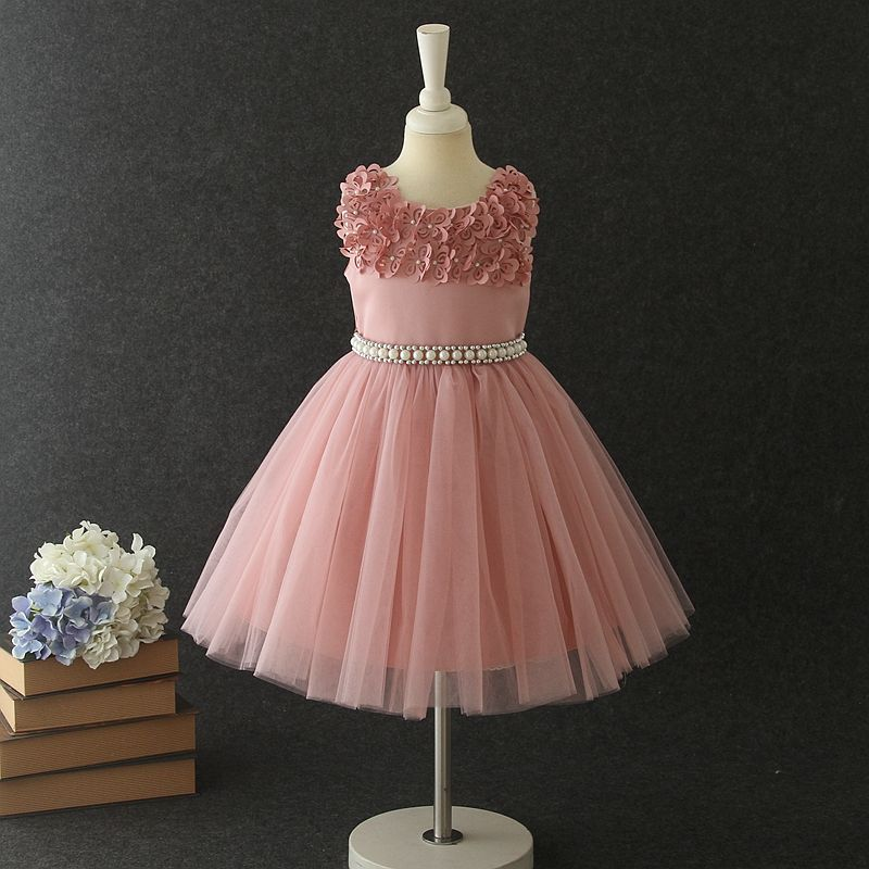 Children's wedding bridesmaids lace girl dresses princess children's fantasy multi-color dresses3-12year olds