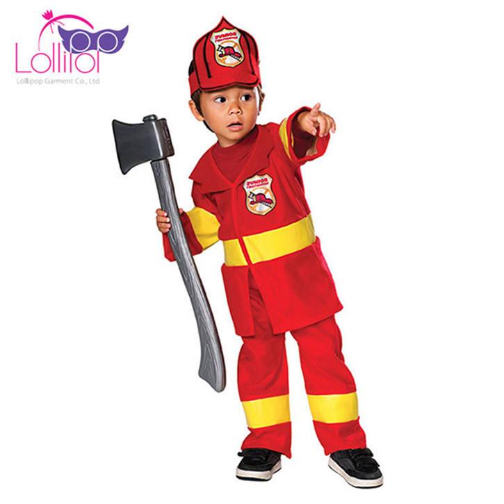 Personnalisé usine prix enfants <span class=keywords><strong>pompier</strong></span> vest outfit costume