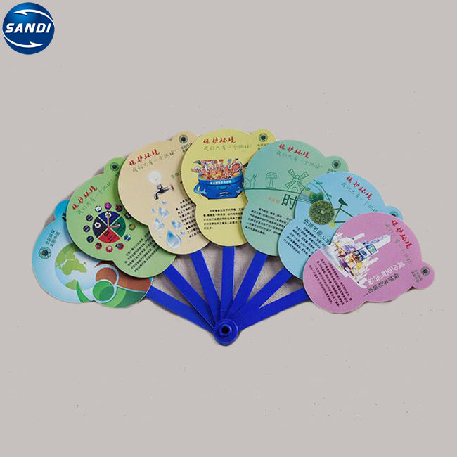 Advertising custom plastic PP hand folding fan