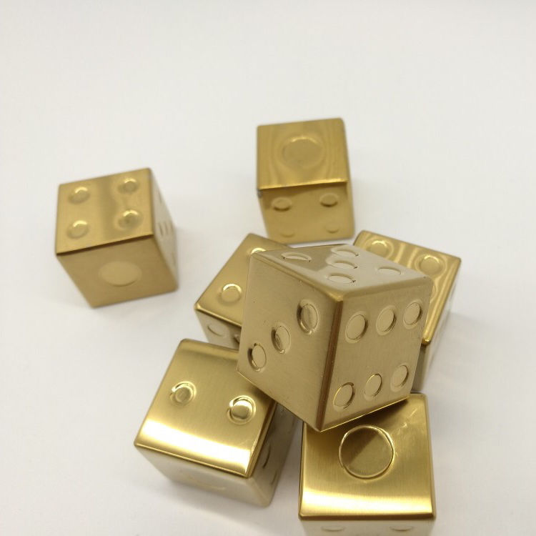 Premium Gold Dice Whiskey Stones Stainless Steel Gold Ice Cube Whiskey Rocks & Stainless Steel Ice Cubes for wine