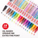 ZEYAR Oil- based Paint Pen Set Extra Fine Point Nylon Tip, 18 colors, ZP1101PB18EF2