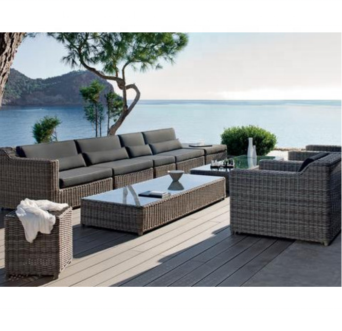 rattan outdoor furniture new model sofa sets hotel furniture
