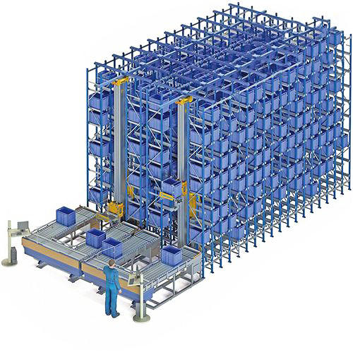 Labor Saving Automatic Warehouse Storage Automated ASRS Racking System
