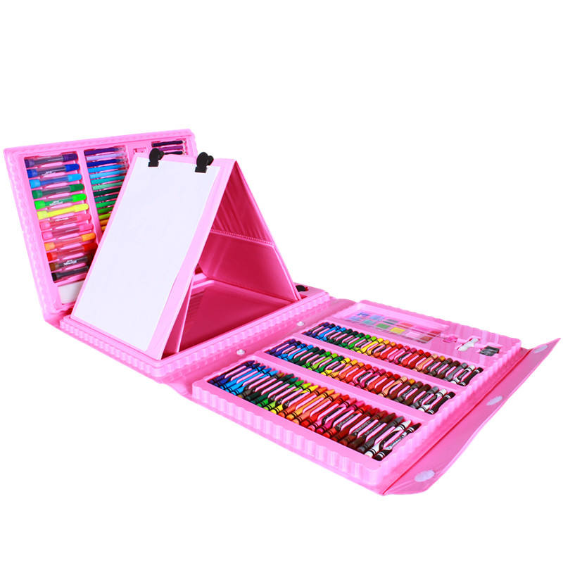 Wholesale 176-Piece Trifold Easel School Kids Drawing Art Stationery painting Set